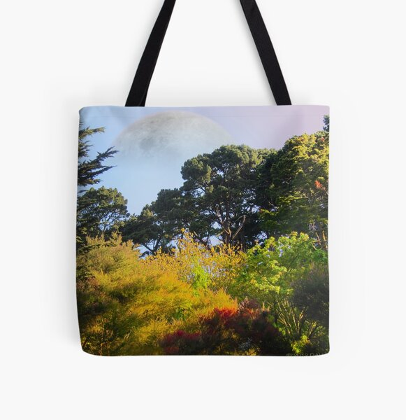 Trees in the Park All Over Print Tote Bag