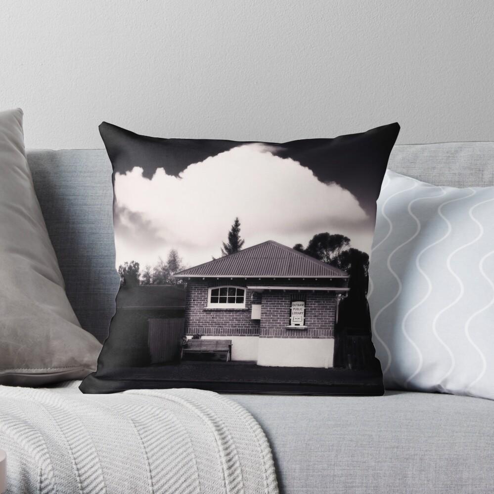 Little Library - Outram NZ Throw Pillow