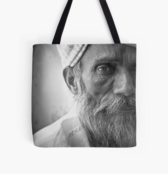 an indian portrait All Over Print Tote Bag