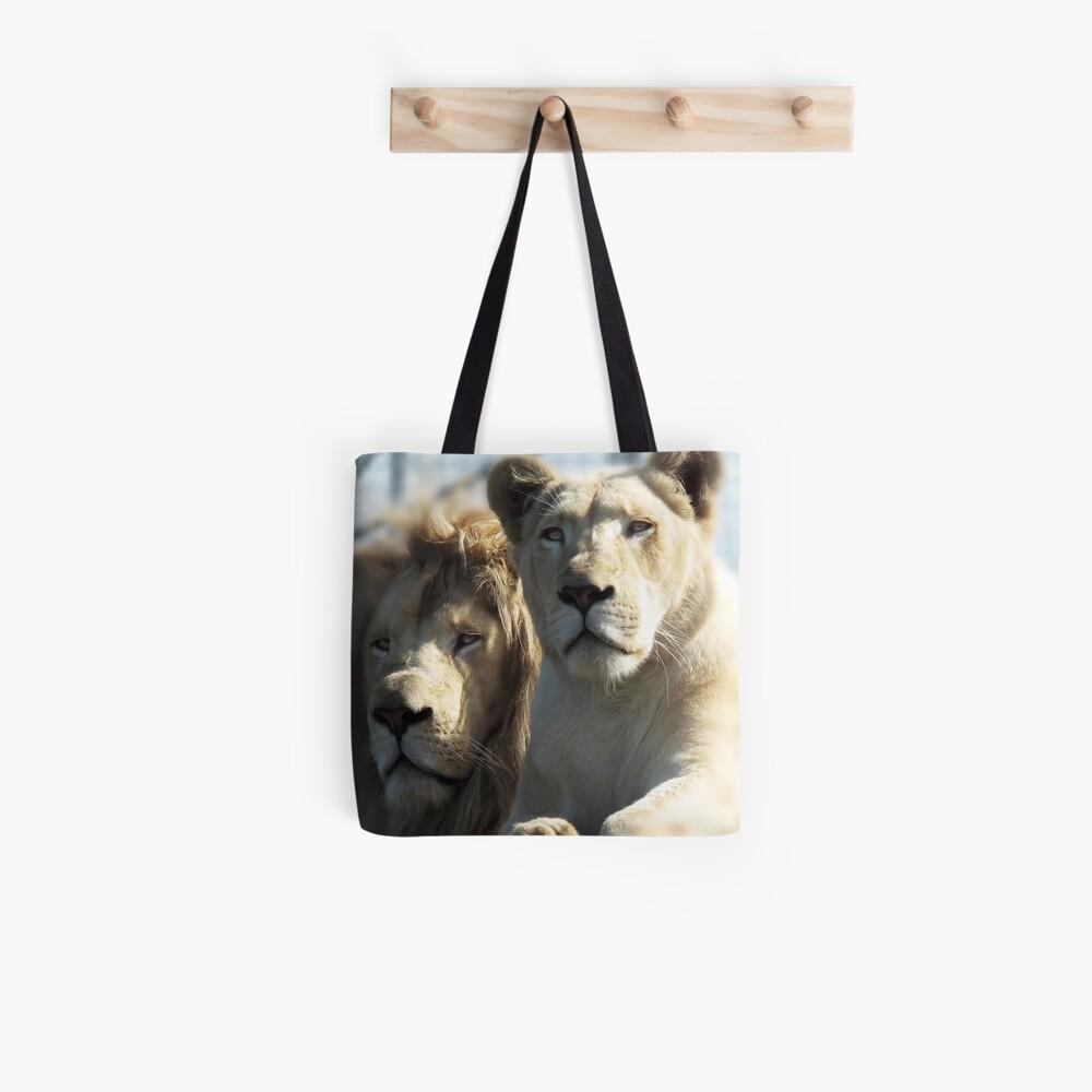 White Lions  Tote Bag
