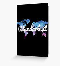 Wanderlust World Map Greeting Card