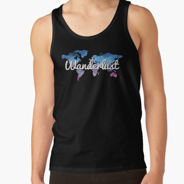Wanderlust World Map Tank Top