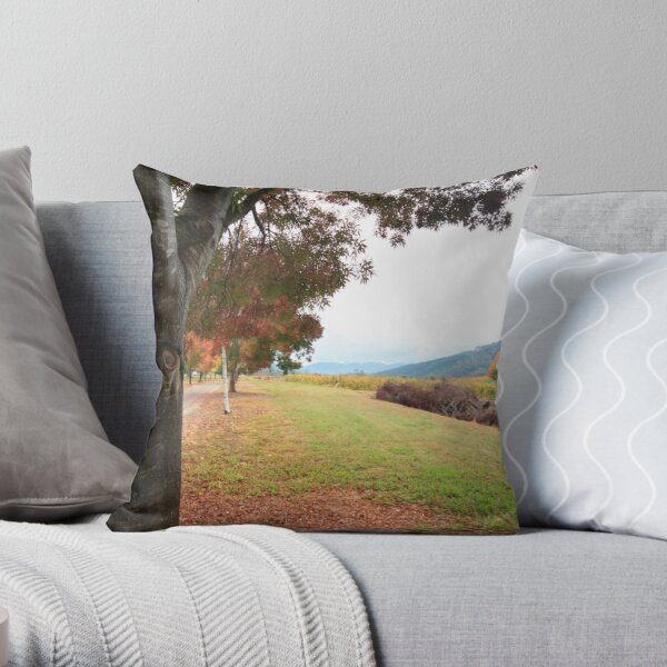 Feathertop Winery - Porepunkah Victoria Throw Pillow