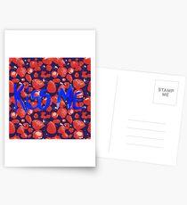 Erdbeeren Küsse mich Postkarten