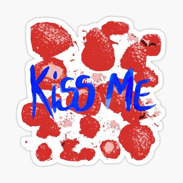 Erdbeeren Küsse mich Sticker