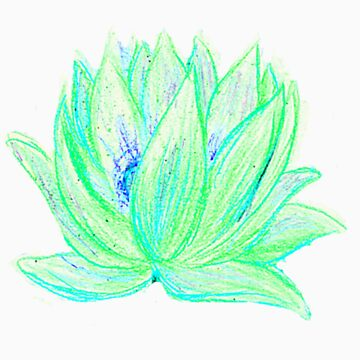 Green Lotus by RebeccaTripp