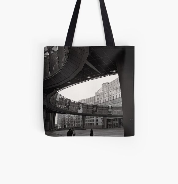 Crossing paths at Parliament - Brussels All Over Print Tote Bag