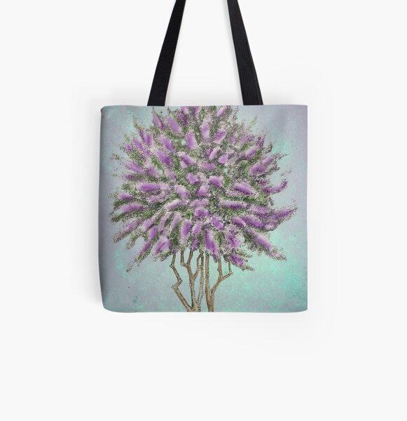 Crepe Myrtle Lavender All Over Print Tote Bag