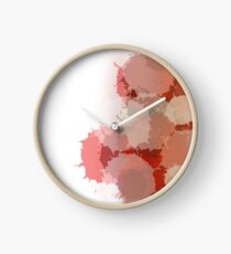 Passion Red Clock