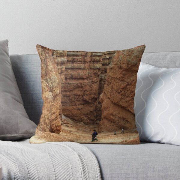 A walk in Bryce Canyon Throw Pillow