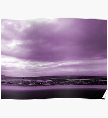 Rain Clouds At Sand Bay Poster