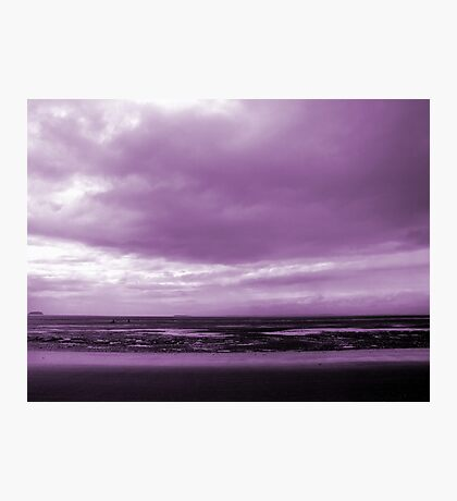 Rain Clouds At Sand Bay Photographic Print