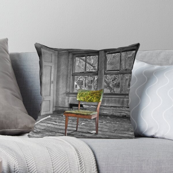 Something is Missing - Selective Color Throw Pillow