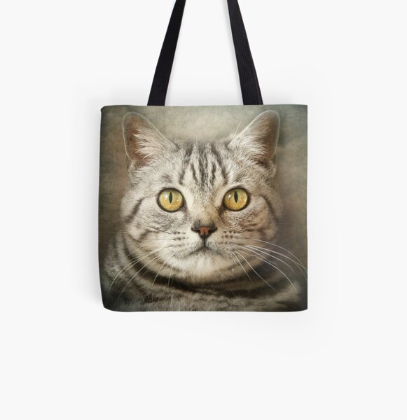 Tabby Cat All Over Print Tote Bag