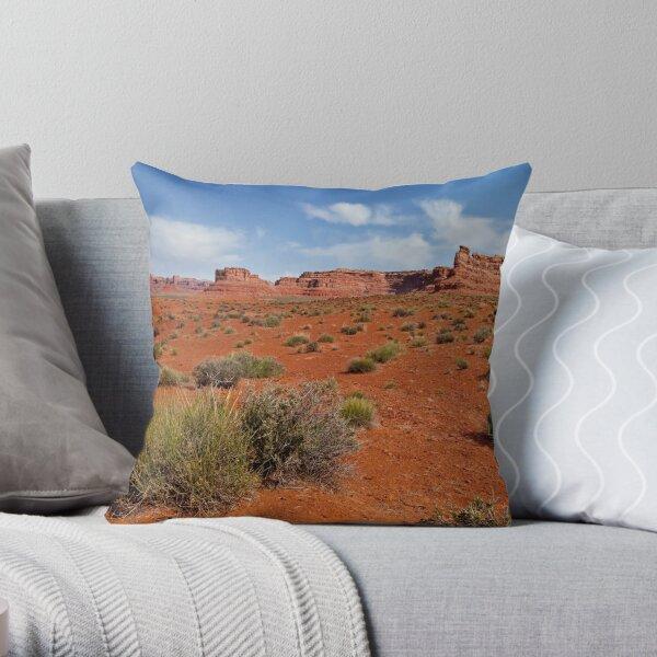 Valley of the Gods - Floor of the desert Throw Pillow