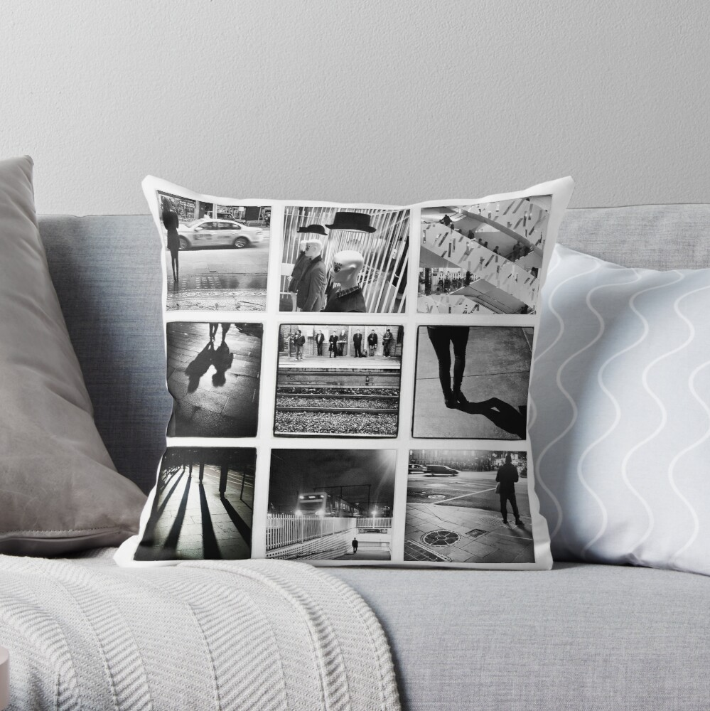 Black and White Wall Throw Pillow