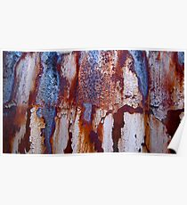 Rusty  Corrugations Poster