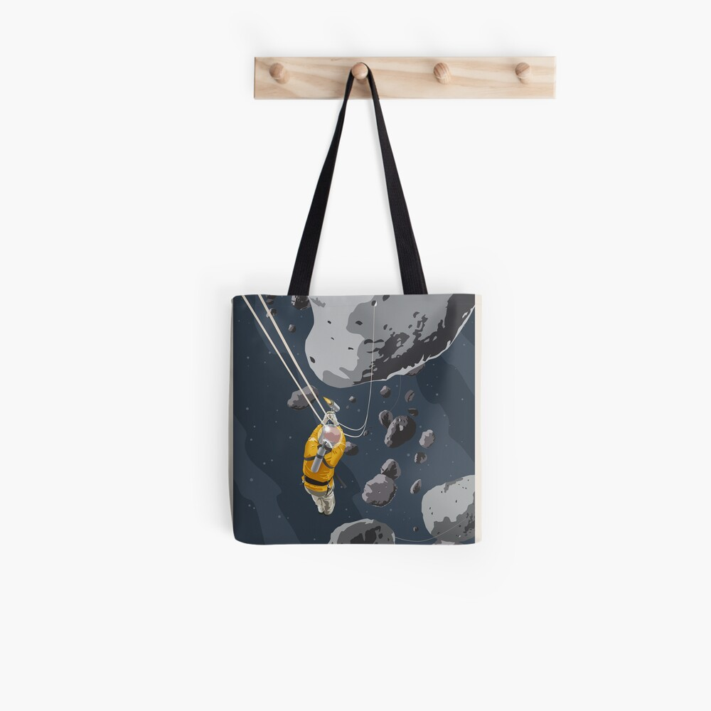 Asteroids Travel Poster Tote Bag