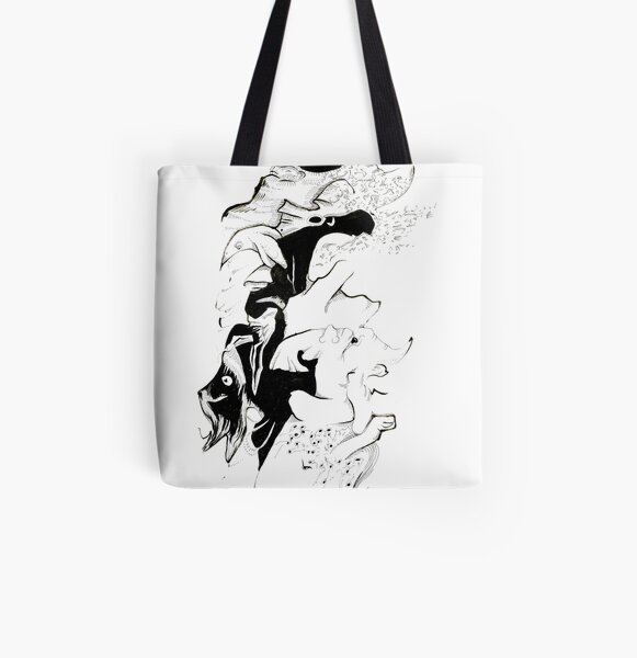Cats whiskers All Over Print Tote Bag