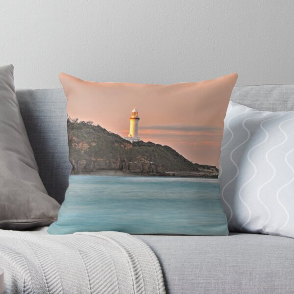 Norah Head Lighthouse Throw Pillow