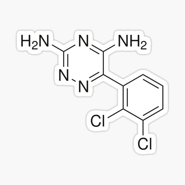 Lamotrigine/Lamictal Chemical Symbol Sticker; Bipolar Medication  Sticker