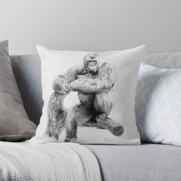 Gorilla, 2012, Pencil Throw Pillow