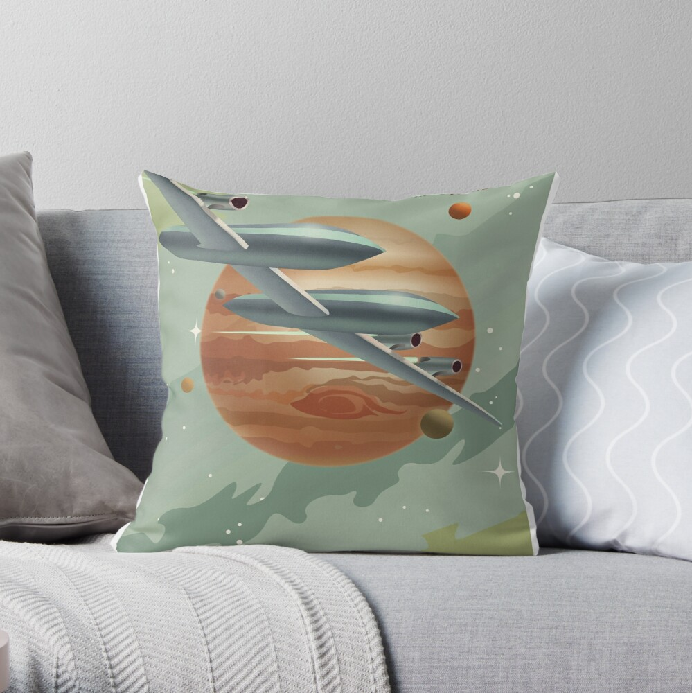 Jupiter Travel Poster Throw Pillow