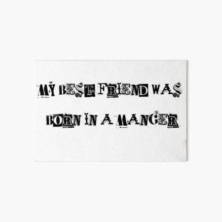 My Best Friend Art Board Print