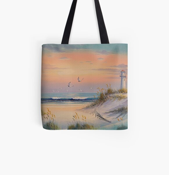 The Light House All Over Print Tote Bag