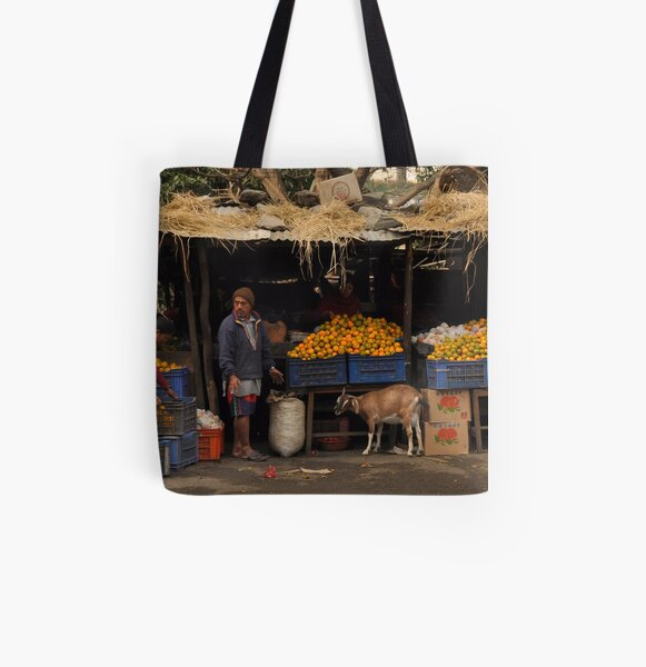 The Orange Stall All Over Print Tote Bag