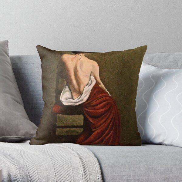 Il Mantillo Rosso Throw Pillow