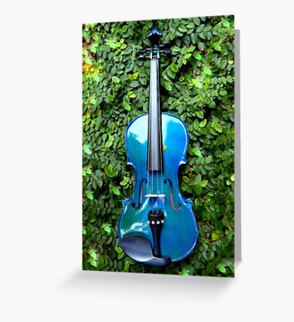il violino blu nell' edera © 2010 patricia vannucci  Greeting Card