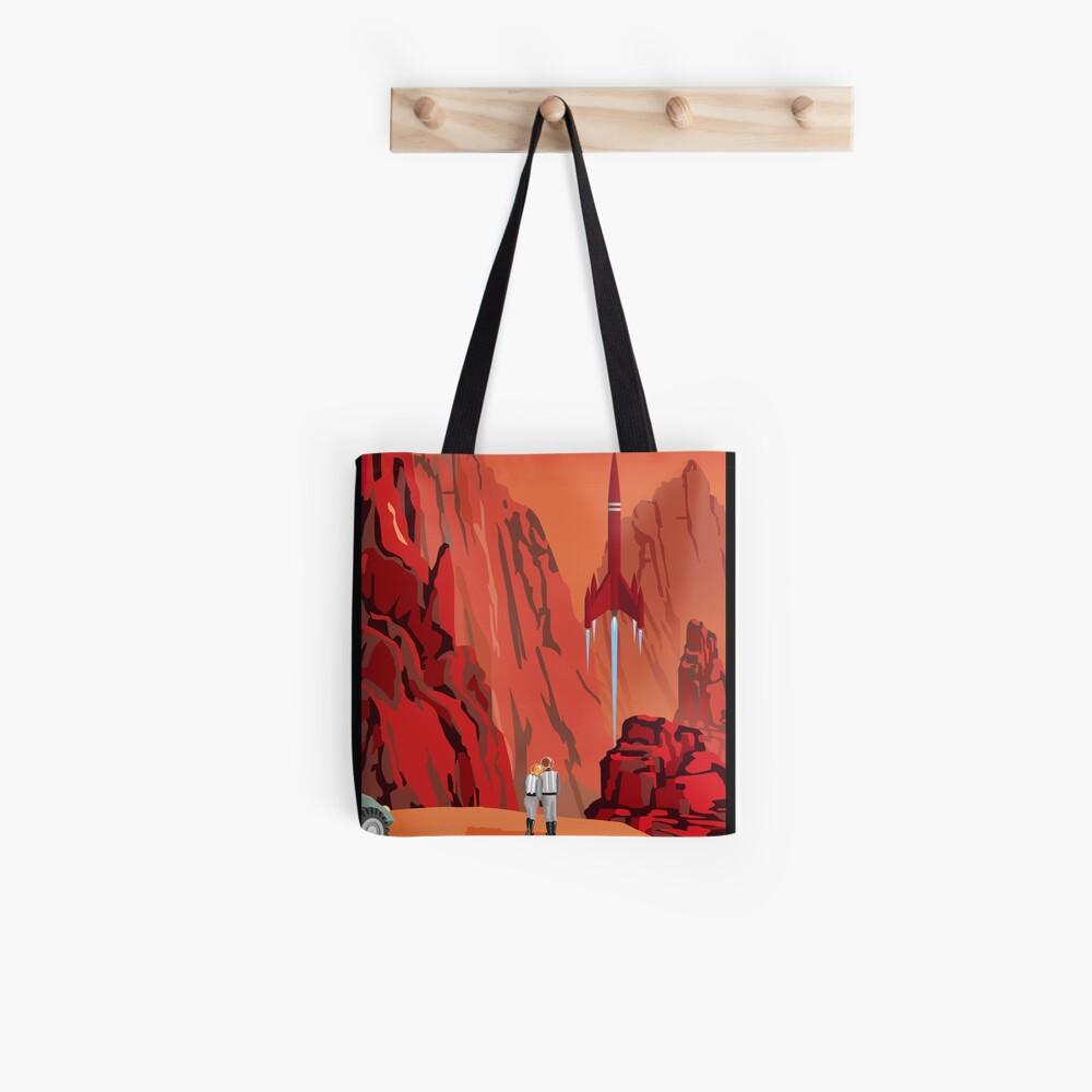 Mars Travel Poster Tote Bag