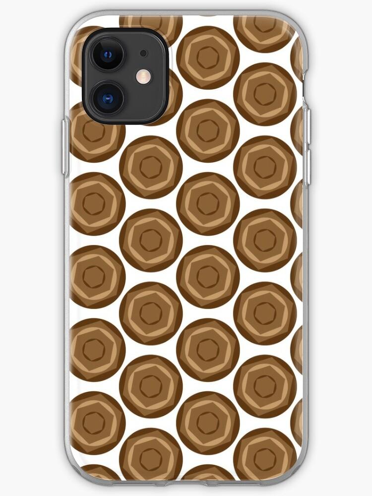 Retro Brown Hexagon Circles Pattern 70s Wallpaper Iphone Case Cover By Kentala Redbubble