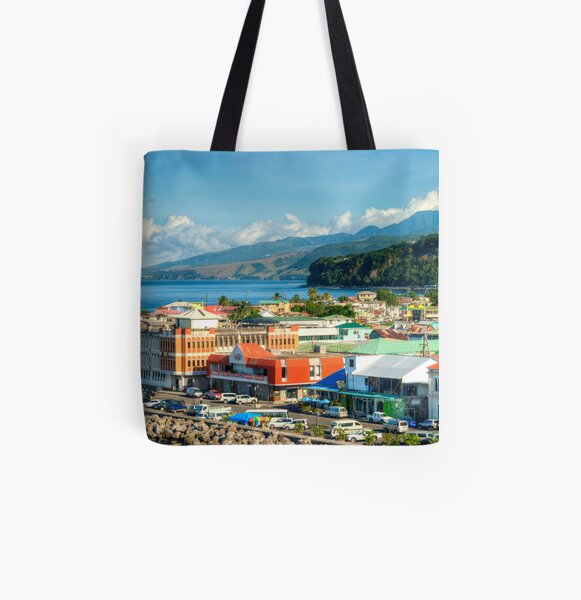 A View of Roseau All Over Print Tote Bag