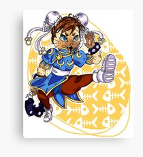 Monster Hunter Chun Li Skin Canvas Print