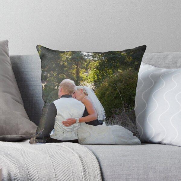 Bianca and Josh Throw Pillow