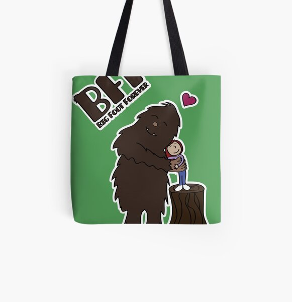 Big Foot Forever All Over Print Tote Bag