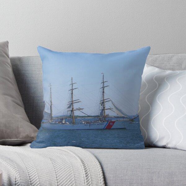 "US Coast Guard - Tall Ship ""Eagle"" Throw Pillow"