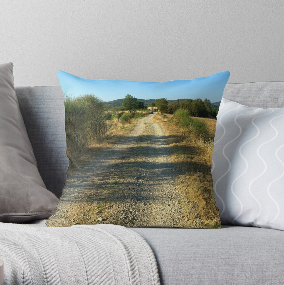 Tuscany, Italy, Arezzo Region Throw Pillow