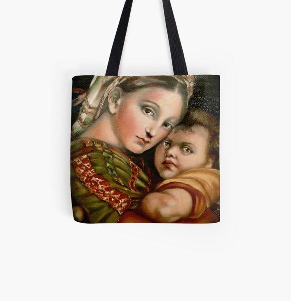 """Raphael's """"Madonna della Seggiola"""" All Over Print Tote Bag"""