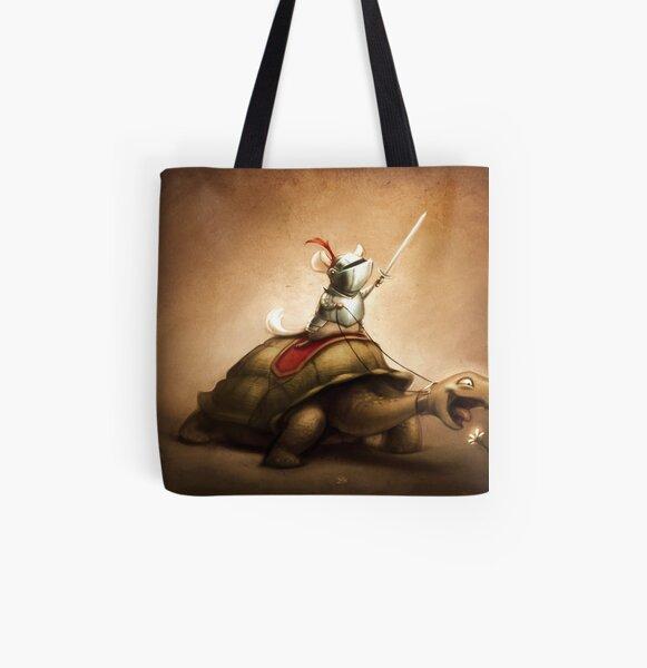 Knight of the Chinchilla All Over Print Tote Bag