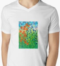 The Far Side of the Summer Meadow Men's V-Neck T-Shirt
