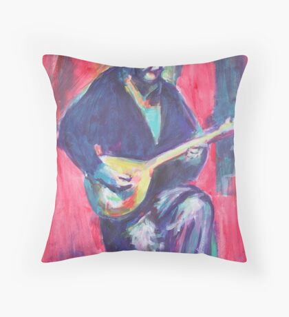 Guitar man Throw Pillow