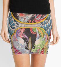 Dragon's are living in the Japanese sword. Mini Skirt