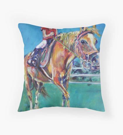 Giddy up Throw Pillow