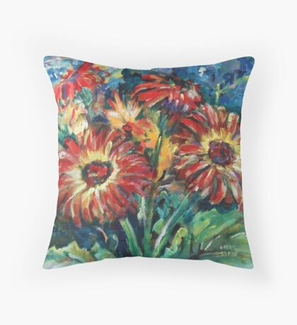 Gerbera Dasies Throw Pillow