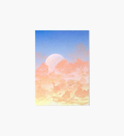 Sun Set & Moon Rise Art Board Print