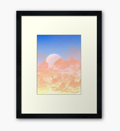 Sun Set & Moon Rise Framed Print