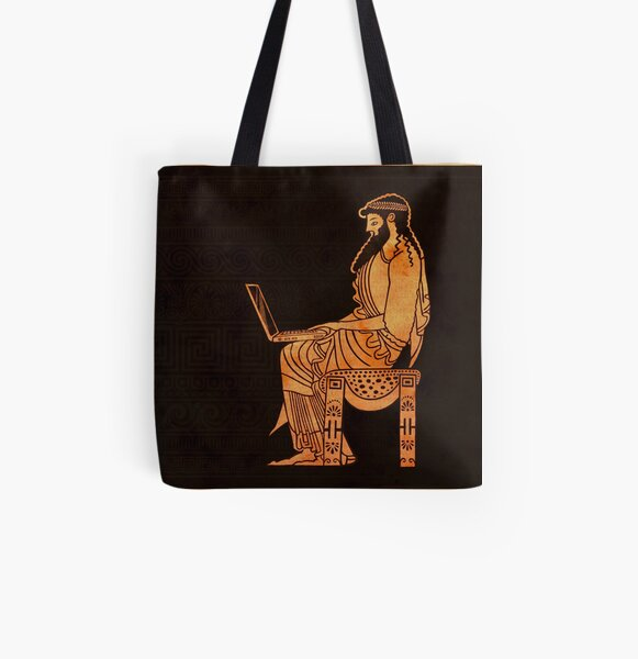 Ancient Greek Businessman All Over Print Tote Bag